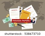 panama papers leaked document.... | Shutterstock .eps vector #538673710
