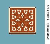 gingerbread square christmas... | Shutterstock .eps vector #538685479