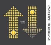 business arrow money currency... | Shutterstock .eps vector #538686424