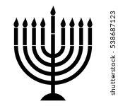 vector menorah silhouette | Shutterstock .eps vector #538687123