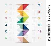 2017 calendar colorful concept... | Shutterstock .eps vector #538690348
