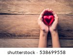 hands female giving red heart | Shutterstock . vector #538699558
