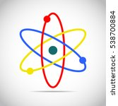 atom icon in flat design.... | Shutterstock .eps vector #538700884