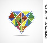 abstract diamond icon in flat...   Shutterstock .eps vector #538704196