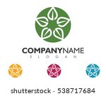 eco tree leaf logo template | Shutterstock .eps vector #538717684