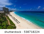 cancun blue ocean beach in a... | Shutterstock . vector #538718224