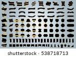 label ribbon banner black... | Shutterstock .eps vector #538718713