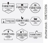 furniture emblem vintage vector ... | Shutterstock .eps vector #538721056