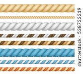 different color thickness rope... | Shutterstock .eps vector #538723219