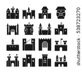 Castle Vector Icons. Medieval...