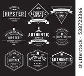 vintage hipster label vector... | Shutterstock .eps vector #538723366