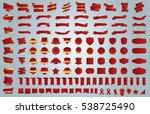 banner ribbon label red vector... | Shutterstock .eps vector #538725490