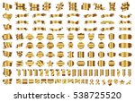 banner ribbon label gold vector ... | Shutterstock .eps vector #538725520