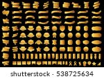 banner ribbon label gold vector ... | Shutterstock .eps vector #538725634