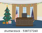 oval office in the white house... | Shutterstock .eps vector #538727260