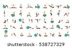 workout for pregnant set.... | Shutterstock .eps vector #538727329