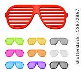 vector shutter shades sun... | Shutterstock .eps vector #53872867