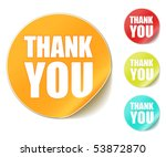 "vector ""thank you"" stickers 