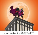 superhero couple. male and... | Shutterstock .eps vector #538734178