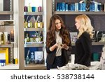 woman shopping in a boutique. | Shutterstock . vector #538738144