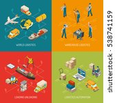 logistic concept 4 isometric... | Shutterstock . vector #538741159