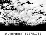 set of isolated clouds over... | Shutterstock . vector #538751758