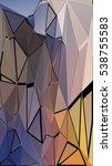 randomly scattered triangles of ... | Shutterstock .eps vector #538755583