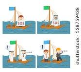 Business People Sailing Set 3