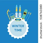winter time. concept banner... | Shutterstock .eps vector #538763380