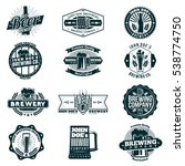 retro beer and brewery logo ... | Shutterstock .eps vector #538774750