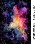 watercolor bright pink galaxy... | Shutterstock . vector #538778464