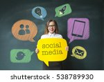 woman and social network concept   Shutterstock . vector #538789930