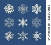 snowflake icons set. snow... | Shutterstock .eps vector #538804858