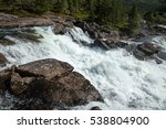 Whitewater On Rapid  In Norway