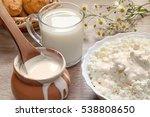 natural homemade milk  sour... | Shutterstock . vector #538808650