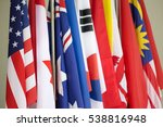 row of colorful asia pacific... | Shutterstock . vector #538816948