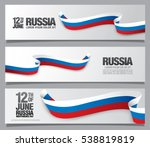 flag of russia. three banners