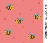 Funny Yellow Bees Pattern On...