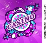 casino party vector game of... | Shutterstock .eps vector #538825234