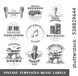 Set Of Vintage Musical Labels...