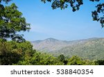 mountain  tree and blue sky   Shutterstock . vector #538840354