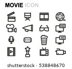 vector line movie set | Shutterstock .eps vector #538848670