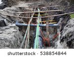 underground pipes and cables in ... | Shutterstock . vector #538854844