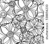 beautiful poppy flowers set ... | Shutterstock .eps vector #538856233