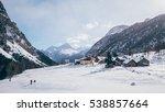 mountain village on the italian ... | Shutterstock . vector #538857664