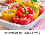 stuffed peppers | Shutterstock . vector #538857949