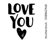 """""""love you"""" simple lettering in... 