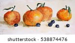 Watercolor Painting Fruit And...