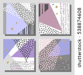 set of colorful cards. modern... | Shutterstock .eps vector #538874608