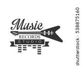 music record studio black and... | Shutterstock .eps vector #538875160